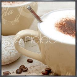 "Gerahmte Kunst ""Coffee I"" mit Alurahmen Alpha"