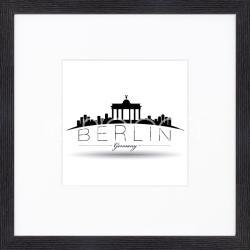 "Gerahmte Kunst ""Berlin"" mit Holzrahmen Quadrum"