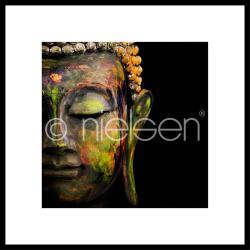 "Gerahmte Kunst ""Buddha head"" mit Alurahmen C2"