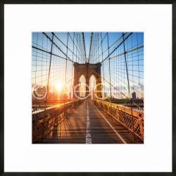 """Bilderrahmen Gerahmte Kunst """"Brooklyn Bridge"""" mit Alurahmen C2"""