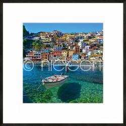 "Gerahmte Kunst ""Parga Boat Greece"" mit Alurahmen C2"