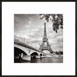 """Bilderrahmen Gerahmte Kunst """"Paris black and white"""" mit Alurahmen C2"""
