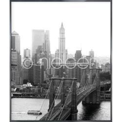 """Bilderrahmen Gerahmte Kunst """"Brooklyn Bridge"""" mit Alurahmen Alpha"""