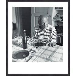 """Bilderrahmen Gerahmte Kunst """"Les pains de Picasso 1985"""" mit Holzrahmen Quadrum"""