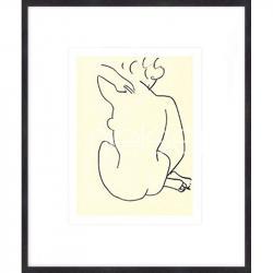 """Bilderrahmen Gerahmte Kunst """"Nu, 1949 con Matisse"""" mit Holzrahmen Quadrum"""
