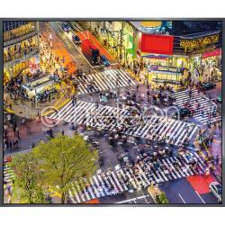 "Bilderrahmen Gerahmte Kunst ""Tokyo Crosswalks"" mit Alurahmen Alpha"