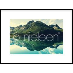 """Bilderrahmen Gerahmte Kunst """"Mountain Lake"""" mit Alurahmen C2"""