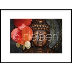 """Bilderrahmen Gerahmte Kunst """"Buddha"""" mit Alurahmen C2"""