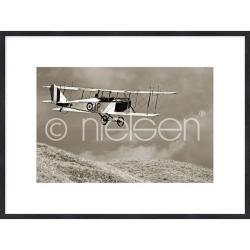 "Bilderrahmen Gerahmte Kunst ""Historic Plane"" mit Holzrahmen Quadrum"