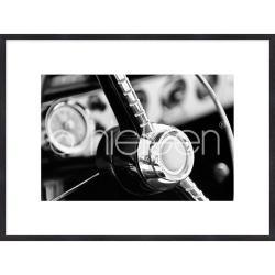 """Bilderrahmen Gerahmte Kunst """"Interior of Classic Car"""" mit Holzrahmen Quadrum"""