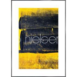 "Bilderrahmen Gerahmte Kunst ""Abstract Yellow"" mit Alurahmen Alpha"