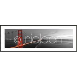 """Bilderrahmen Gerahmte Kunst """"Golden Gate Bridge"""" mit Alurahmen C2"""