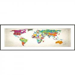 "Bilderrahmen Gerahmte Kunst ""World Map"" mit Alurahmen C2"