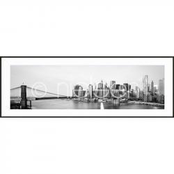 "Bilderrahmen Gerahmte Kunst ""New York City Skyline"" mit Alurahmen C2"