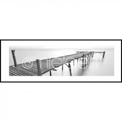 "Gerahmte Kunst ""Footbridge black and white"" mit Alurahmen C2"