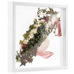 Bilderrahmen 3D Schweberahmen - 40x40 cm weiß