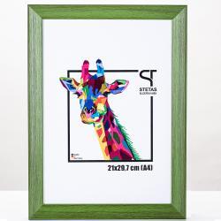 Bilderrahmen Holz-Bilderrahmen Rainbow Grün