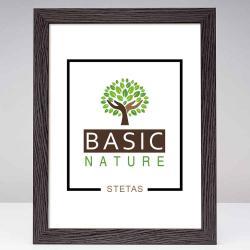 Bilderrahmen Holz-Bilderrahmen Basic Nature Schwarzbraun