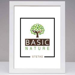 Bilderrahmen Holz-Bilderrahmen Basic Nature Weiß