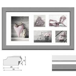 Galerie-Bilderrahmen MALMO für 5 Bilder
