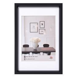 Bilderrahmen Kunststoffrahmen Steel Style mit Passepartout schwarz