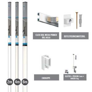 All-in-one-Kit Click Rail - Wei� grundiert