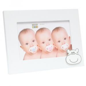 Baby-Fotorahmen mit Nilpferd