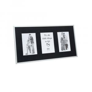 Galeriebilderrahmen Getete silber/schwarz