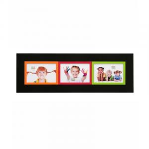 Galeriebilderrahmen Brel (3 Bilder) grün/orange/rot/schwarz