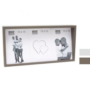 Fotorahmen mit schräger Rückwand für 3 Bilder