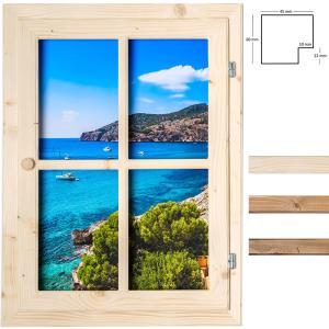 Dekofenster 50x70 Meerblick-Motiv