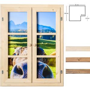 Dekofenster 60x80 Kuh-Motiv