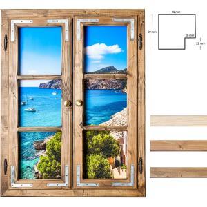 Dekofenster 60x80 Meerblick-Motiv