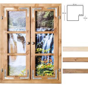 Dekofenster 60x80 Wasserfall-Motiv