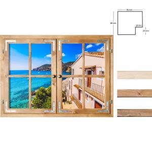 Dekofenster 70x100 Meerblick-Motiv