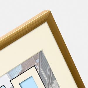 Kunststoff-Bilderrahmen Puro mit Passepartout gold