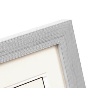 Kunststoff-Bilderrahmen Cosea mit Passepartout grau