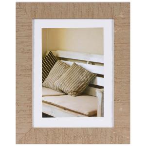 Holz-Bilderrahmen Driftwood mit Passepartout Beige