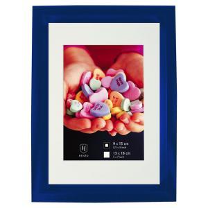 Kunststoff-Bilderrahmen Fresh Colour mit Passepartout Blau