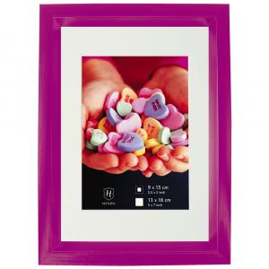 Kunststoff-Bilderrahmen Fresh Colour mit Passepartout Violett