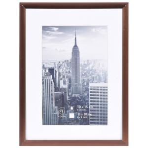 Alurahmen Manhattan mit Passepartout bronze