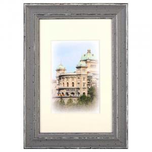 Holz-Bilderrahmen Capital Bern mit Passepartout Rosa