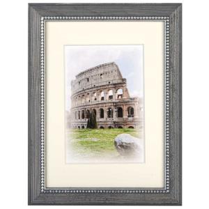 Holz-Bilderrahmen Capital Roma mit Passepartout Taupe