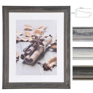 Holz-Bilderrahmen Anais mit Passepartout