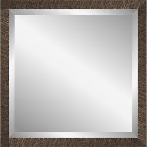 Wandspiegel Driftwood - 40x40 cm Dunkelbraun