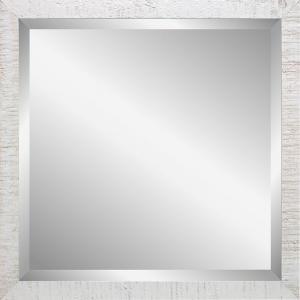 Wandspiegel Driftwood - 40x40 cm Weiß