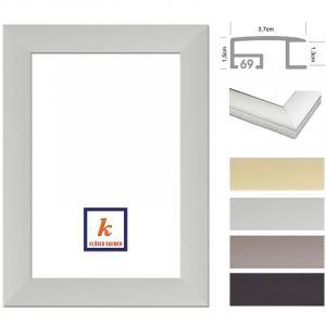 klueber gebira tera alu bilderrahmen ma anfertigung wei matt. Black Bedroom Furniture Sets. Home Design Ideas