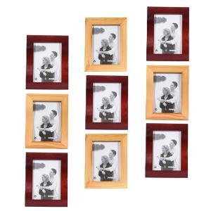 Echtholz Wechselrahmen Welle, 9er-Set