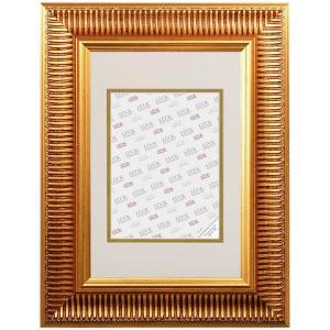 Barock-Bilderrahmen Laupheim mit Passepartout Gold