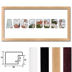 """Regiorahmen """"Augsburg"""" mit Passepartout"""